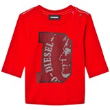Diesel Red D Logo Baby Long Sleeve Tee
