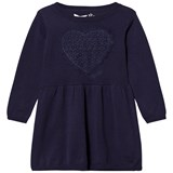 Guess Navy Knit Dress with Lace Heart Applique