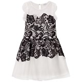 Guess Black and White Lace and Tulle Party Dres