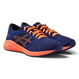 Asics Indigo Blue Junior Roadhawk FlyteFoam Running Trainers