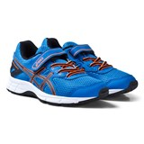 Asics Blue and Orange Kids Velcro Pre-Galaxy 9 Running Trainers
