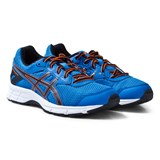 Asics Blue and Orange Junior Gel-Galaxy 9 Running Trainers