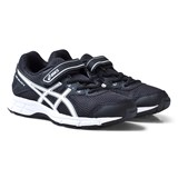 Asics Black and White Kids Pre-Galaxy 9 Running Trainers