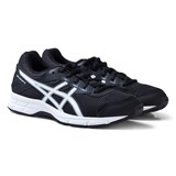 Asics Black and White Junior Gel-Galaxy 9 Running Trainers