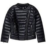 Guess Black Padded Pleather Biker Jacket