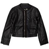 Guess Black Pleather Biker Jacket