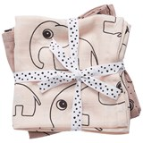 Done by Deer Pack of 2 Elephant Print Burp Cloth