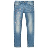 Guess Light Wash Star Print Jeans with Embroidered Pockets