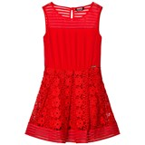 Guess Red Lace and Jersey Dress