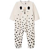 Catimini Cream Deer Print Velour Babygrow