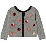 Catimini Grey Heart Embroidered Cardigan