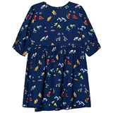 Stella McCartney Kids Navy Skates Print Meadow Dress