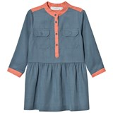 Stella McCartney Kids Blue and Pink Tess Shirt Dress