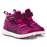 Viking Magenta Mid-Top Velcro Trainers