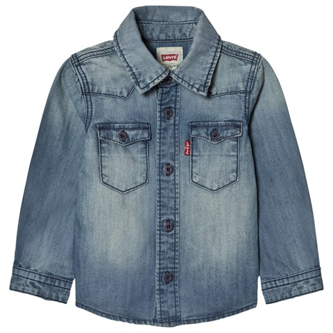 Levi's Blue Long Sleeve Denim Shirt