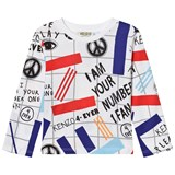 Kenzo Kids White All-Over Print Long Sleeve T-Shirt