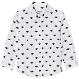 Kenzo Kids White All-Over Eye Print Shirt
