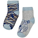 Kenzo Kids Pack of 2 Blue Multi Tiger and Animal Print Socks