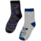 Kenzo Kids Pack of 2 Blue Animal Print and Tiger Socks