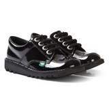 Kickers Black Patent Low School Shoes