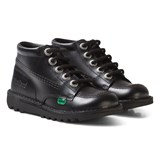 Kickers Black Kickers Hi-Top School Shoes