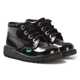 Kickers Black Patent Kick Hi School Shoes