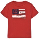 Ralph Lauren Red US Flag Print Tee