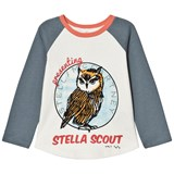 Stella McCartney Kids White Owl Print Izzy Tee
