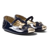 Little Marc Jacobs Navy and Gold Mouse Design Shoes