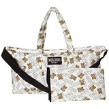 Moschino White Bear Logo Branded Changing Bag