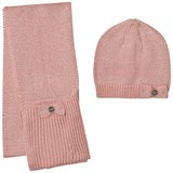 Mayoral Pink Sparkly Knitted Hat and Scarf
