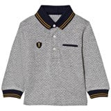Mayoral Grey Spot Polo with Navy Cuffs