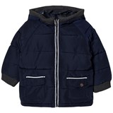 Mayoral Navy Padded Hooded Coat
