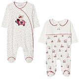Mayoral Pack of 2 Bunny Print Jumpsuits