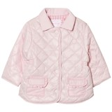 Mayoral Pink Quilted Collared Coat