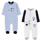 Mayoral Pack of 2 Printed Bear Jumpsuits