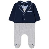 Mayoral Navy and Grey Suit Babygrow