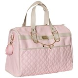 Mayoral Pink Faux Leather Quilted Changing Bag