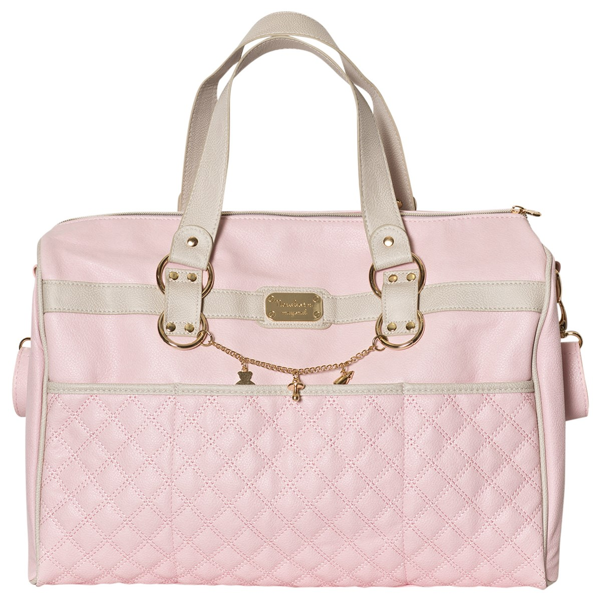 f89b61fe09bf Mayoral Pink Faux Leather Quilted Changing Bag
