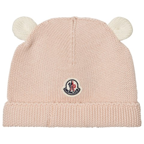 Moncler Light Pink Knitted Beanie
