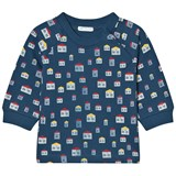 United Colors of Benetton Dark Blue House Print Jersey Sweater