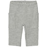 United Colors of Benetton Grey Soft Ribbed Trousers with Side Pockets