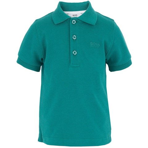 Boss Green Branded Pique Polo