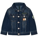 United Colors of Benetton Blue Denim Jacket with Patches