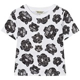 Kenzo Kids White and Black All-Over Tiger Print T-Shirt