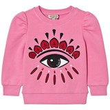 Kenzo Kids Pink Eye Back and Front Print Sweatshirt
