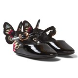 Sophia Webster Mini Black and Multi Butterfly Wing Details Crib Shoes