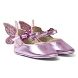 Sophia Webster Mini Pink Chiara Metallic Leather Butterfly Crib Shoes