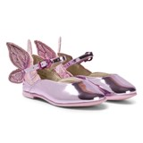 Sophia Webster Mini Pink Chiara Metallic Leather Butterfly Shoes