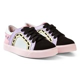 Sophia Webster Mini Multi Leather and Suede Low Top Trainers